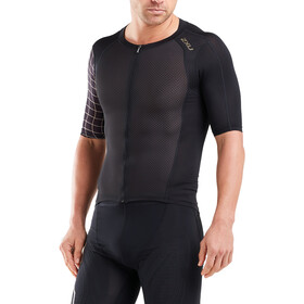 2XU Compression Maglietta Uomo, black/gold